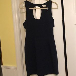 Navy blue cut out dress